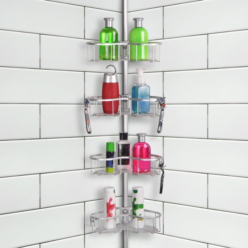 Rustproof Shower Caddy with 4 teirs
