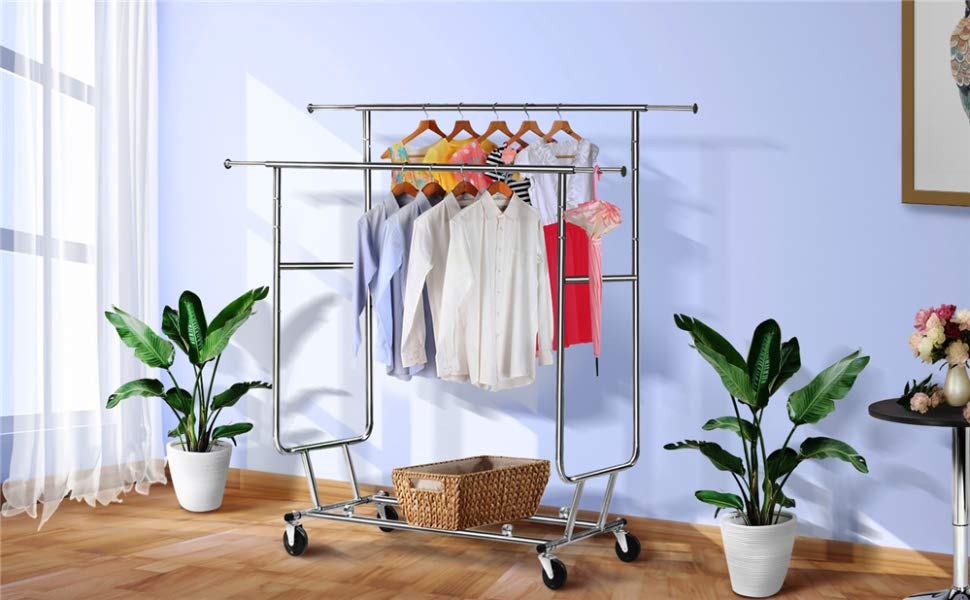 Best Double Clothes Racks With Double the Rail Rods