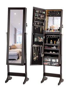 Best Free Standing Jewelry Armoire Cabinets with Mirror
