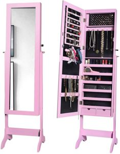 Lighted Jewelry Armoire cabinet Boxes with LED lights