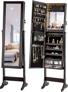 Free Standing Jewelry Armoire Cabinets with Mirror
