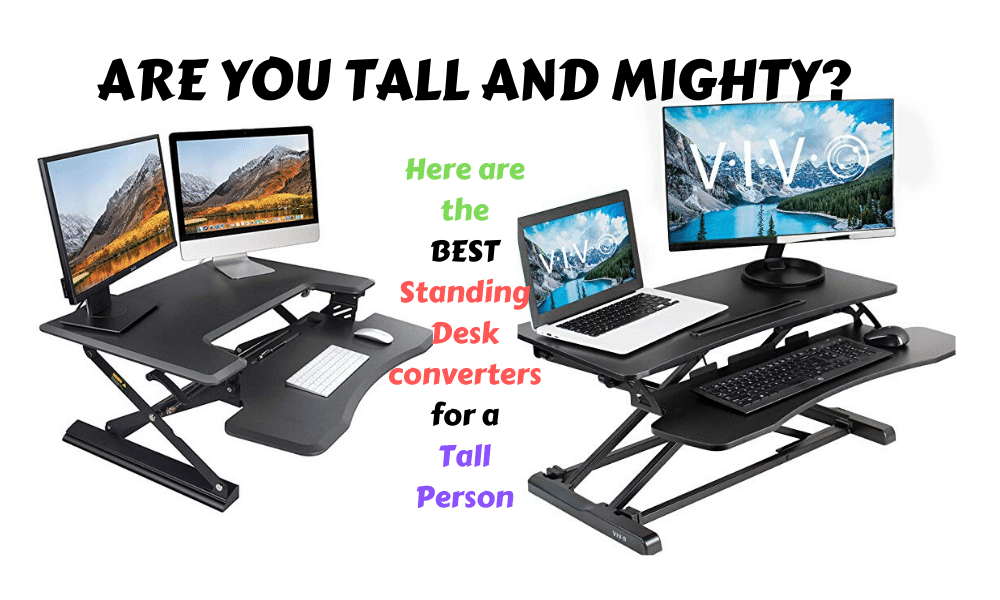 8 Best Standing Desk Converters For, Best Sit Stand Desk Converter For Tall Person
