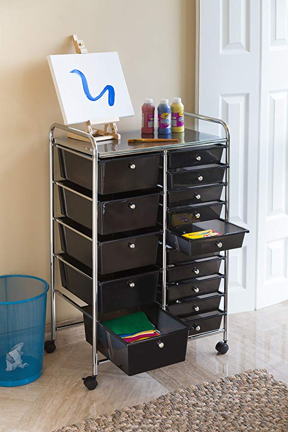 Best Rolling Storage Cart Drawers With Wheels