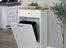 Best Wooden kitchen Trash Can Cabinets