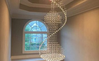 Beautiful Spiral Rain Drop Crystal Chandelier Ceiling Lights