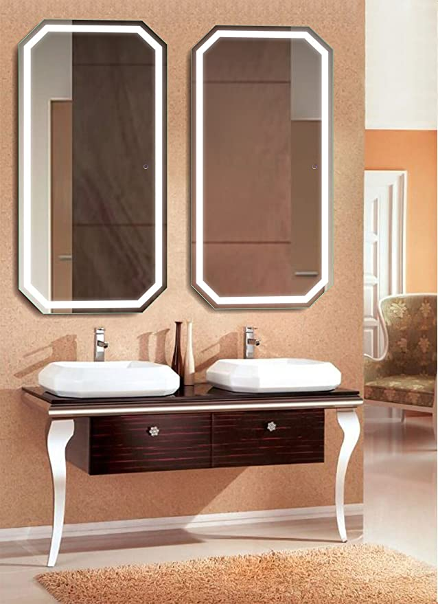 12 Best Wall Mounted LED Lighted Bathroom Mirrors 2021 Review