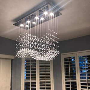 Rectangular Crystal Chandelier Lighting Fixture