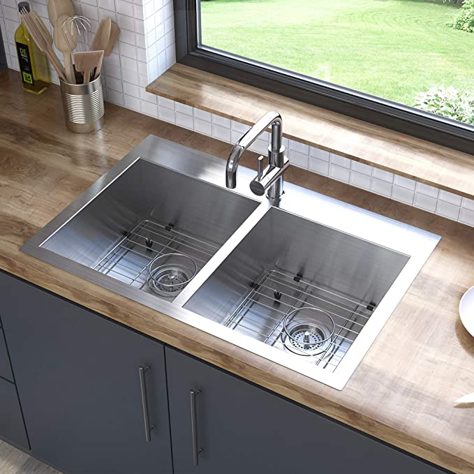 Best Double Bowl Stainless Steel Undermount Kitchen Sinks