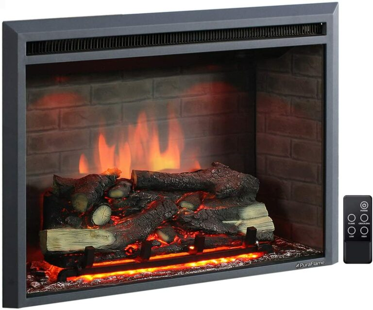 8 2021 Best Most Realistic Electric Fireplace Inserts That Effectively Mimic a Real Fireplace